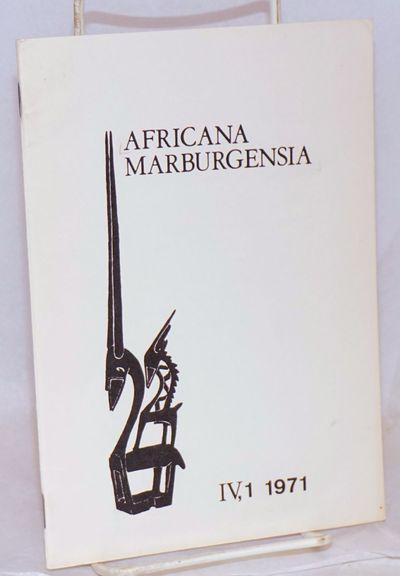 Marburg: Universitätsstadt-Bibliothek Marburg, 1971. 431p., 5.75x8 inches,. Texts in German and Eng...