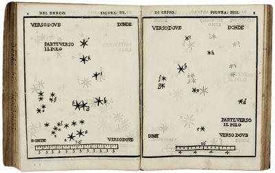 4to. , (6) ff., 252 pp. De le stelle fisse libro uno. Venice, Giovanni Varisco & Compagni, 1570. 20 ...