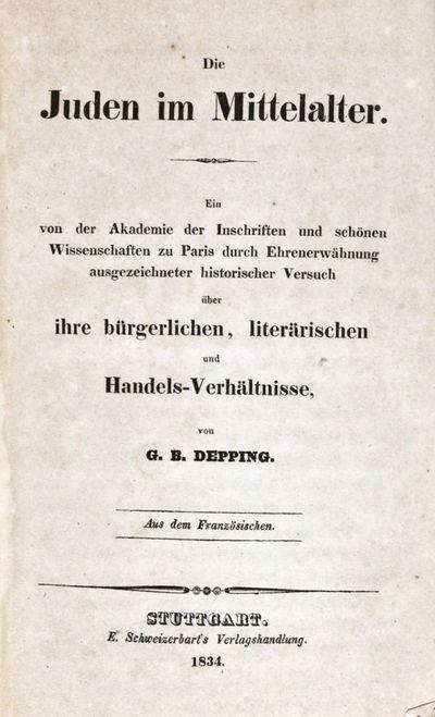 Stuttgart: E. Schweizerbart's Verlagshandlung, 1834. First edition. Hardcover. vg. 8vo. 419,pp. Rebo...