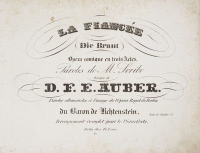 Berlin: Fr. Laue , 1829. Oblong folio. Quarter contemporary brown calf with marbled boards, decorati...