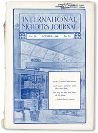 International Molders Journal. Vol. LXX, no. 10 (October 1934)