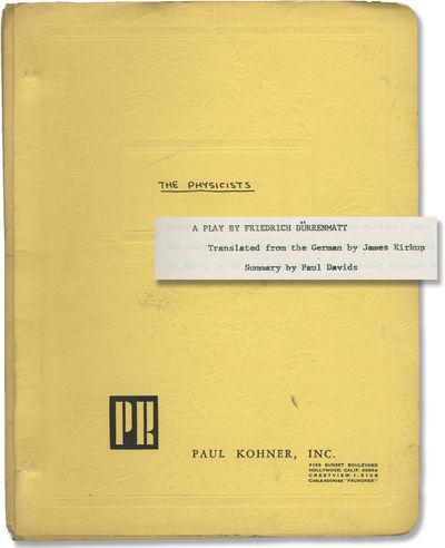 N.p.: N.p.. Original Treatment script for an unproduced film. A physicist seeks refuge in an insane ...