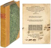 L'Authoritie et Iurisdiction [Jurisdiction] des Courts de la Maiestie by  Richard Crompton  - First edition  - 1594  - from The Lawbook Exchange Ltd (SKU: 63738)
