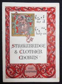 image of Strawbridge_Clothier Chorus program -- 1927 Christmas