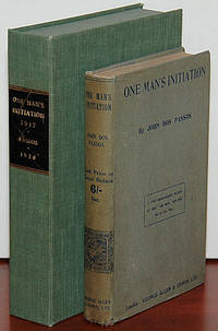 ONE MAN'S INITIATION --- 1917 [Inscribed Copy of First Book w/ Autographed Letter]