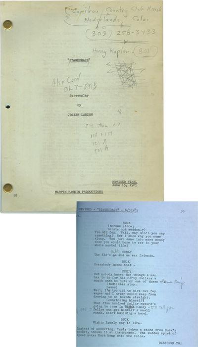Los Angeles: Twentieth Century-Fox, 1965. Revised Final script for the 1966 film. Actor Van Heflin's...