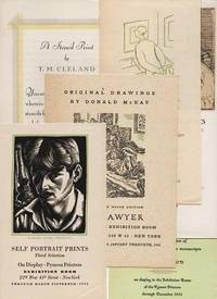 GROUP OF SIX (6) PUBLISHER'S EXHIBITION ANNOUNCEMENTS, 1930-1933