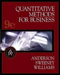 Quantitative Methods for Business, with CD-ROM, 9th edition