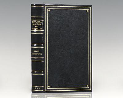 London: George Allen & Unwin Ltd, 1942. First edition of Schumpeter's ground-breaking work. Octavo, ...