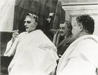 [Fellini's] Roma (Original photograph of Federico Fellini and Feodor Chaliaplin Jr. from the set of the 1972 film)