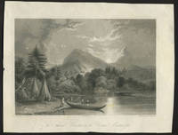 image of The Soaking Mountain on the Upper Mississippi.  Engraving