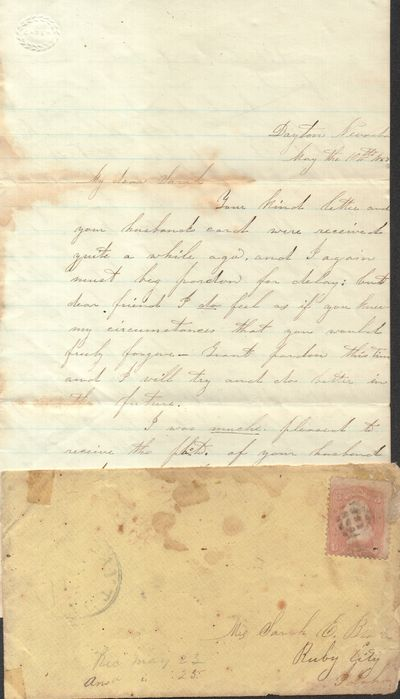 Sweet Letter by a Pioneer Woman of...