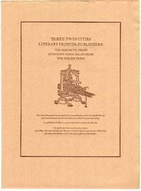 Three Twin Cities Literary Printer-Publishers: The Hermetic Press, Midnight Paper Sales Press, The Bieler Press