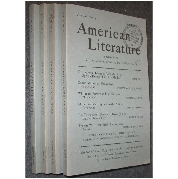 History Criticism: American Literature: Journal Of Literary, History