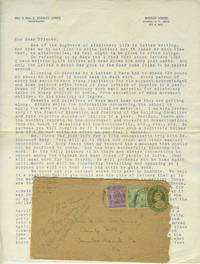image of 1922 letter from Mission House in Sitapur India to W.A. Tripner in Cumberland, PA