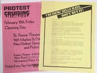 [Two handbills protesting the film \