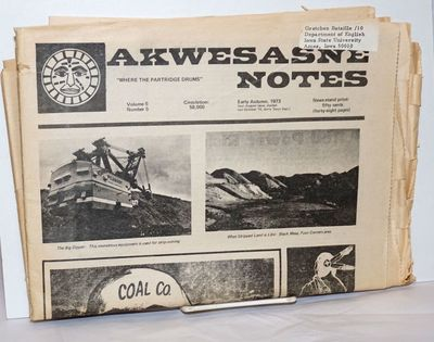 Rooseveltown: Akwesasne Notes / Mohawk Nation, 1973. 48p., folded tabloid format newspaper, 11.5 x17...