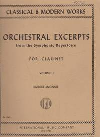 image of Orchestral Excerpts from the Symphonic Repertoire - For Claarinet, Volume 1