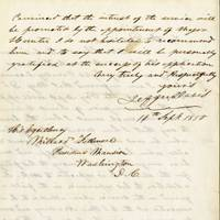 Jefferson Davis Writes President Fillmore, Recommending for Promotion Future Major General David Hunter, On Whose Head He Would Later Place a Bounty Promoted by Davis, Hunter would ravage the South, form the first unit of Black soldiers from the occupied south, and issued General Orders 11, freeing the slaves in 3 Southern states.