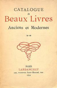 Catalogue 48/1954: Beaux Livres Anciens et Modernes.