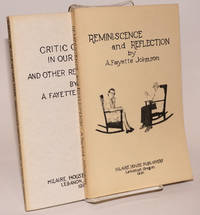 image of Reminiscence and Reflection [with] Critic of life in our time, and other recent poems