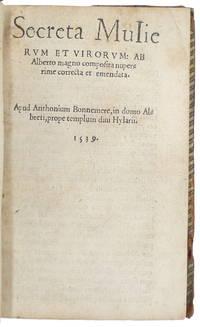 image of Secreta mulierum et virorum [...] nuperrime correcta et emendata.