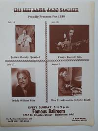 Left Bank Jazz Society Flyer July/August 1980