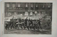 image of Torchlight Procession of the New York Firemen.  Wood engraving