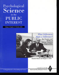 What Makes a Difference? The Promise and Reality of Diverse Teams in Organizations (Psychological Science in the Public Interest, Volume 6, Number 2, October 2005)
