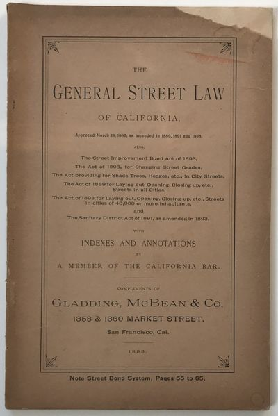 San Francisco: George Spaulding & Co, 1893. About very good.. 90pp. Original printed wrappers, stapl...