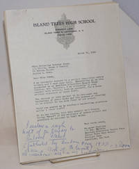 Typed letter with handwritten note signed by Bowen with a draft of the preface to \