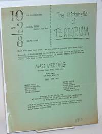 The arithmetic of terrorism.  10 the Hollywood Ten - 2 Lawson, Trumbo jailed June 8th = 8 leaves eight.   Mass meeting Monday, June 19th, 8:15 p.m., Town Hall, 123 West 43rd St. Hear the Ten
