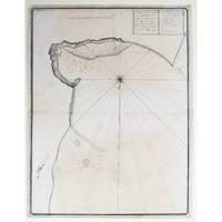 Plan de La Baye St Augustin In L'isle de Madagascar tiree Suv un compass qui un 1733….