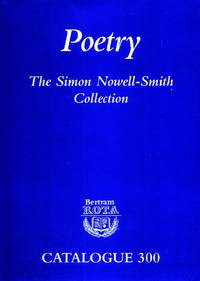 Poetry, The Simon Nowell-Smith Collection