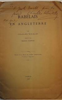 RABELAIS EN ANGLETERRE by  Charles WHIBLEY - Paperback - 1903 - from Antic Hay Books (SKU: 53582)