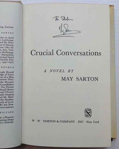 New York: W.W. Norton & Company, Inc, 1975. First. hardcover. near fine/very good(-). 156 pages, 8vo...