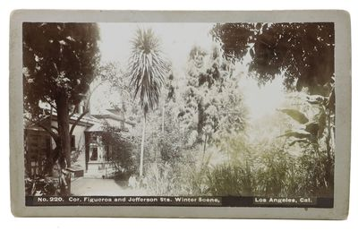 Los Angeles: Garden City Foto Co, (n. d.). Ca 1900. Now housed in an archival mylar sleeve. Modest w...