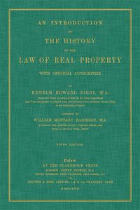 An Introduction to the History of the Law of Real Property..