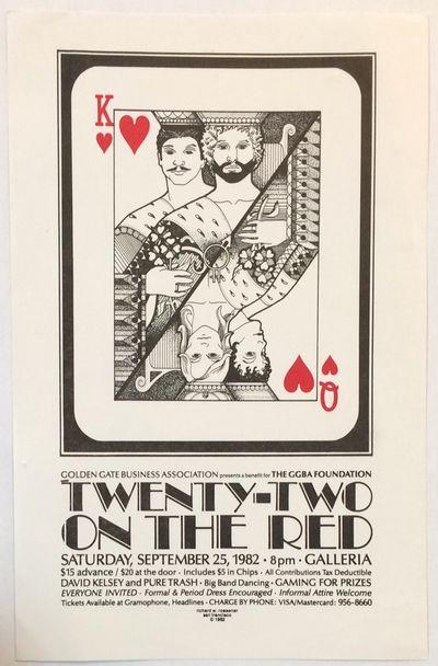 San Francisco: Golden Gate Business Association (GGBA), 1982. 5.5x8.5 inch handbill designed by Rich...