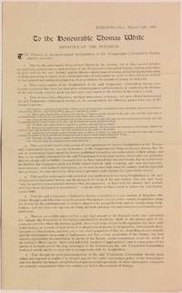 To the honourable Thomas White, Minister of the Interior [petition of dissatisfied Temperance Colonization Society scripholders]