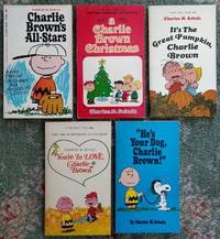 """Charlie Brown's All-Stars / A Charlie Brown Christmas / It's The Great  Pumpkin, Charlie Brown / You're in Love, Charlie Brown / """"He's Your Dog,  Charlie Brown!"""" [5 paperback volumes]"""