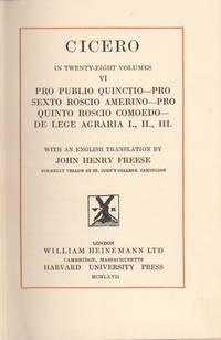 Cicero in Twenty-Eight Volumes. Volume VI