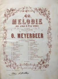 40 Melodie [Piano-vocal score] ad una e più voci con accomp.to di pianoforte ... Parole Francesi Con traduzione Italiana di M. Marcello