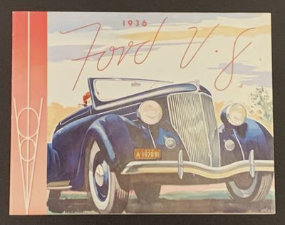 Detroit, Michigan: Ford Motor Company, 1935. 1st printing. Color printed paper wrappers, stapled. No...