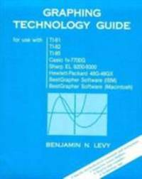 image of Graphing Technology Guide (for use with TI-81, TI-82, TI-85, Casio fx-7700G, Sharp EL 9200-9300, Hewlett-Packard 48G-48GX, BestGrapher Software (IBM), Best Grapher Software (Macintosh)