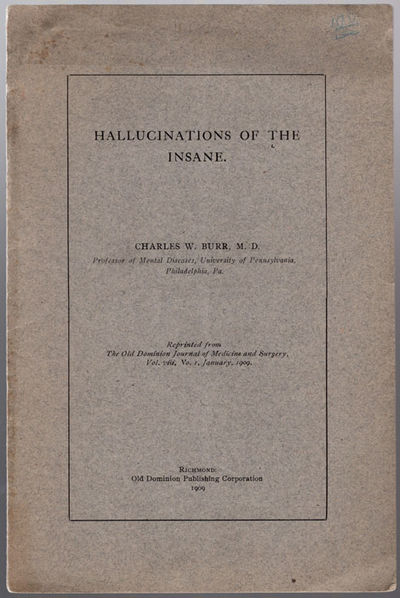 Richmond, VA: Old Dominion Publishing Corporation, 1909. 8vo (23.5 cm, 9.25
