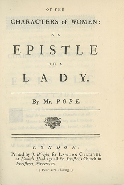 London: Printed by J. Wright, for Lawton Gilliver, 1735, 1735. First edition, second issue with the ...