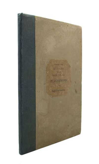 First Edition CLARKE, Samuel. A True and Faithful Account of the Four Chiefest Plantations of the En...