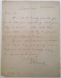 Autographed Letter Signed to journalist Henry Meltzer