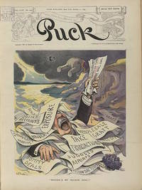 """Puck Magazine Cover """"Where's My Square Deal?"""". October 11, 1905"""